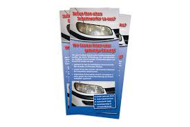 Flyer For Flyer For Headlight Restoration Packing Unit 100 Pieces Proglass
