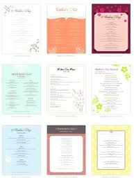 Mother S Day Menu Template Mothers Day Menu Template Word Free Mothers Day Menu