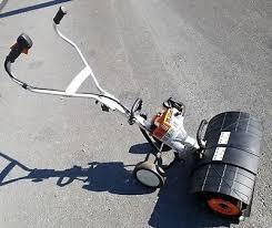stihl mm 55 mm55 gas power broom sweeper garden tiller yard boss cultivator stihl garden tiller r39