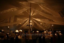 Ceiling up lighting Wood Tent Lighting Gobo Lighting Projection Pole Tent Elegant Lighting White Uplighting Simple Elegant White Sheer Fabric Light Up My Event Exclusive Events Lighting Design