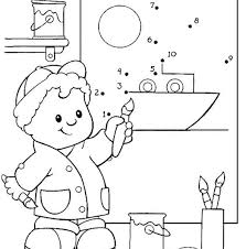 Little People Coloring Little People Coloring Pages Boat Boats