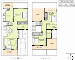adorable row house plan layout plans india housing floor building 8548