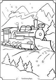 train color pages free printable polar express coloring book sheets for s