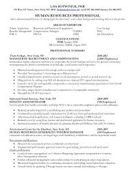 Entry Level Human Resources Resume Objective Resume Of Human Resource Examples Of Human Resources Resumes Hr 64