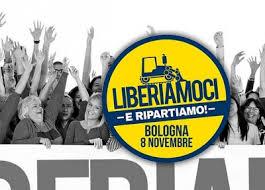 Risultati immagini per la lega e salvini a bologna 8 novembre