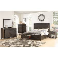 Rustic Contemporary Brown 4 Piece King Bedroom Set - Montana | RC ...