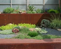 Small Picture metal retaining wall industrial style landscape design