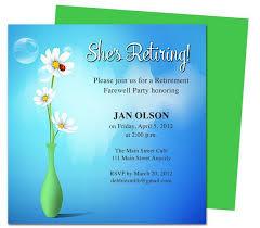 Retirement Invitations Free Retirement Template Free Free Retirement Flyer Template