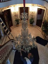 because a chandelier lift gives you luxury control of luxury lighting fixtures