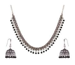 black metal jewellery. Perfect Metal Ganapathy Gems Black Metal Strand Necklace Set For Women GPJC26 Intended Jewellery A