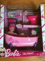 barbie dollhouse furniture cheap. mattel barbie glam collection bathroom bathtubtoilet set dollhouse furniture cheap r
