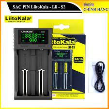 Bộ Sạc Pin Đa Năng LiitoKala Lii-S2 - Sạc pin thông minh, sạc được hầu hết  các loại pin dạng trụ - Pin và dụng cụ sạc pin