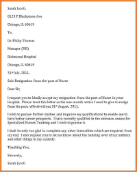good letter of resignation nursing resignation letter resignation letter format exist export
