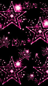 girly wallpaper.  Girly Black And Pink Stars To Girly Wallpaper D