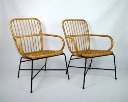 vintage 70s furniture. Para Krzeseł Bambusowych | A Pair Of Bamboo Chairs Buy On Patyna.pl # Vintage 70s Furniture
