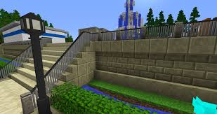 fence minecraft. Fenced Starway. Lamp Post Is Also Custom Made Using C\u0026B. Fence Minecraft