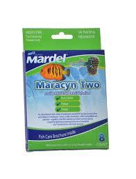 Mardel Fish Disease Chart Maracyn Two Bacterial Treatment Fritz Mardel