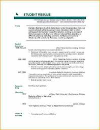 Free Student Resume Templates Resume Template Student High School