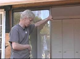 replacing sliding glass doors removing the jam
