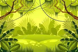 jungle background vector. Simple Jungle Jungle Background Forest U2014 Stock Vector Throughout Background N