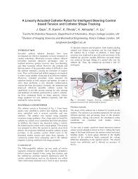 (PDF) A Linearly Actuated Catheter Robot for <b>Intelligent Steering</b> ...