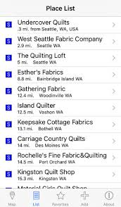 Quilt Shop Locator on the App Store & iPhone Screenshot 2 Adamdwight.com