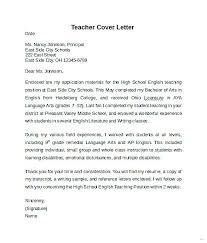 Art Teacher Cover Letter Nice Ideas High School Teacher Cover