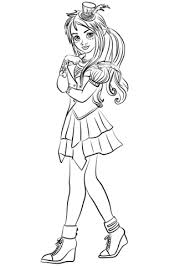Descendants Wicked World Coloring Pages Mal From Page Category