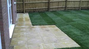 we were asked by our clients to extend the existing patio with an additional pathway laid to the left hand