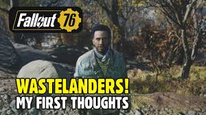 FALLOUT 76 WASTELANDERS: My First Thoughts | LESTER FIELDS - YouTube