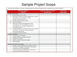 Sample Project Plan Outline Erp Implementation Plan Template Excel