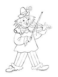 Clown Con Violino Circo Disegni Per Bambini Gratis Da Colorare