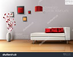 Modern Living Room White Leather Sofa Stock Vector - High quality living room furniture
