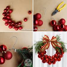 Use a Hanger & Christmas Balls to make a Wreath...these are the