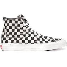 black and white vans shoes high top. vans shoes checked hi-top sneakers black and white high top s