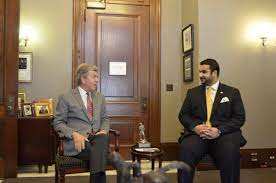 """Twitter पर Khalid bin Salman خالد بن سلمان: """"Thank you Senator @RoyBlunt  for an enriching conversation on the historic Saudi-US ties, and our shared  objectives regionally and globally.… https://t.co/tEt67J17ka"""""""