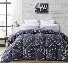 grey goose down comforter. Interesting Comforter MoSurprise Luxurious Printed Goose Down Comforter King Size Duvet Insert  All Seasons 100 Cotton Shell For Grey G