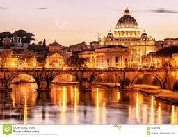 Nachtansicht Sant'Angelo Und San Pietro in Rom Stockfoto - Bild von  italien, eingebürgert: 56580314