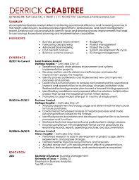 Business Process Analyst II Resume Sample