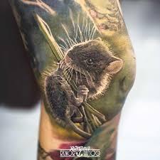 фото татуировки мышь в стиле 3d портреты цветная черно белые