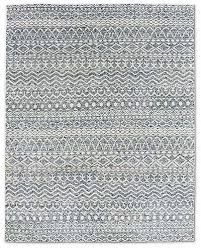 zahira hand knotted moroccan rug light blue
