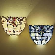 wireless wall sconce. Stained Glass Wireless Wall Sconce, Sconce O