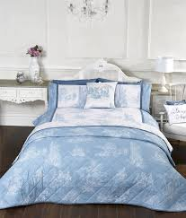 vintage style blue quilt duvet covers or cushion