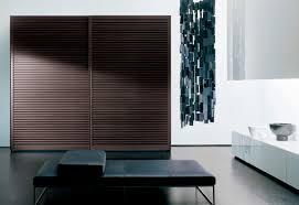 contemporary wardrobe solid wood sliding door amado by pietro arosio