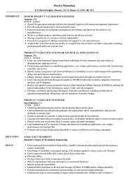 Validation Engineer Resume Sample Product Validation Engineer Resume Samples Velvet Jobs 1