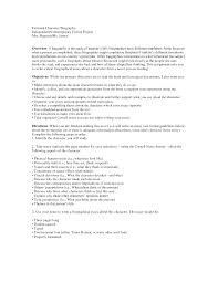 Character Bio Template Personality - Templates Data