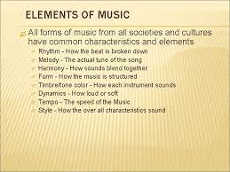 The elements of music—such as rhythm, melody, harmony, and dynamics—are what make a song exciting, or haunting, or unforgettable. Elements Of Music The Foundation On Which Music