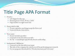 Apa Quick Reference This Powerpoint Is Intended To Serve As
