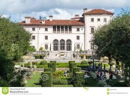 villa vizcaya north facade from museum gardens in coconut grove in miami florida usa