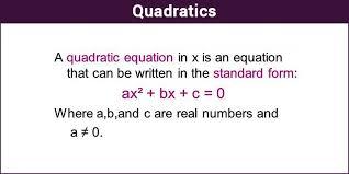 quadratics quadratic equation